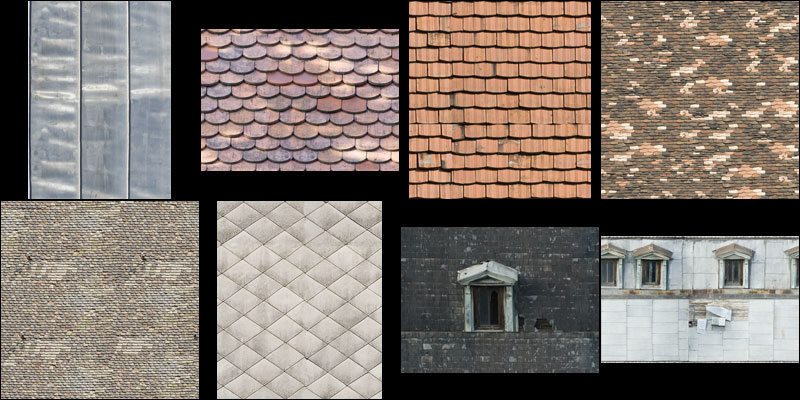 roof material textures   Openfootage